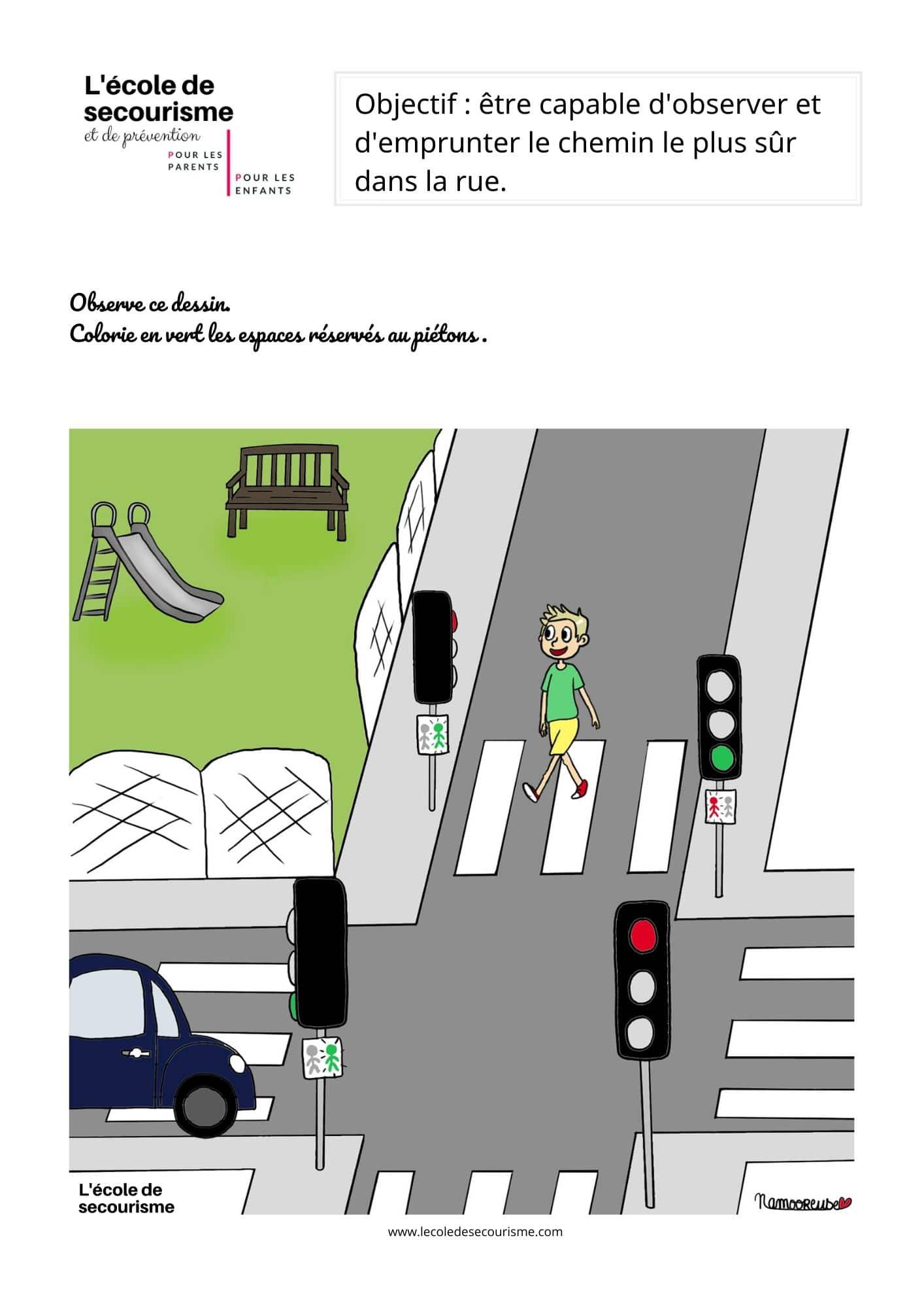 Activité enfant – Veiller à sa sécurité dans la rue
